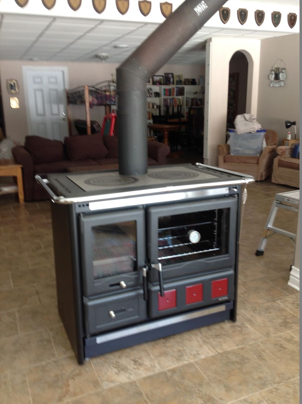 wood burning cook stove la nordica rosa xxl. Black Bedroom Furniture Sets. Home Design Ideas