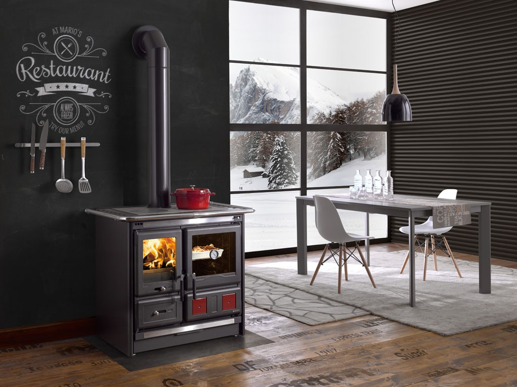 wood burning cook stove la nordica rosa l. Black Bedroom Furniture Sets. Home Design Ideas