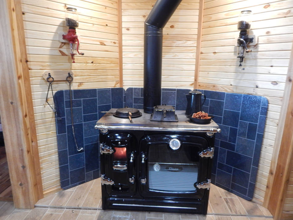 Wood Cook Stove Installation